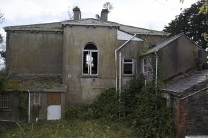 Derelict Naghan Lodge from rear